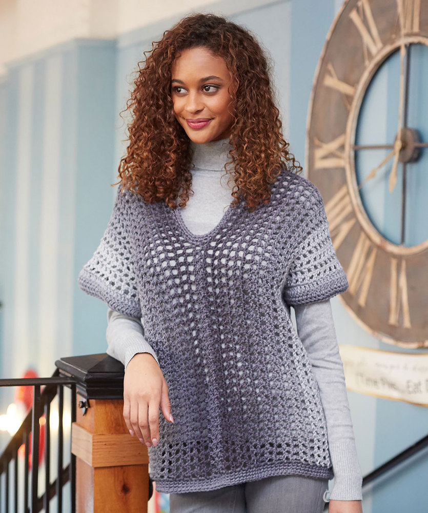 Two-Rectangle Sweater Free Crochet Pattern