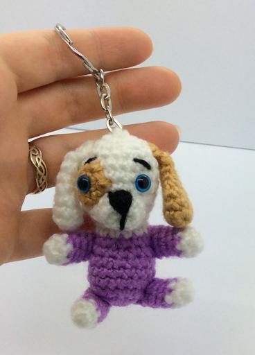 Amigurumi dog crochet pattern free keyring