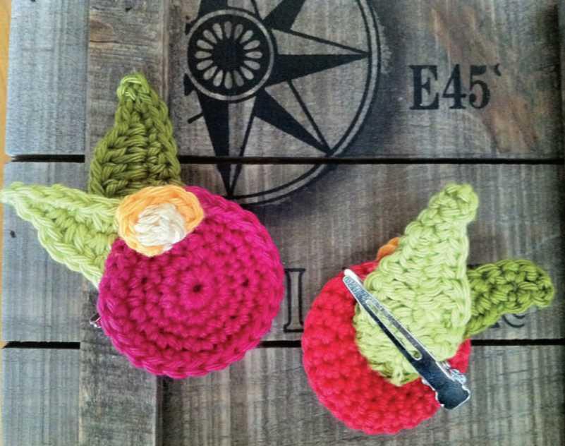 Apple Blossom Clips Free Crochet Pattern Crochet Kingdom