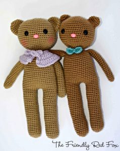 Crochet Teddy Bear - Free Pattern | Crochet teddy bear pattern ... | 300x238