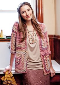 Easy and free ladies crochet cardigan pattern