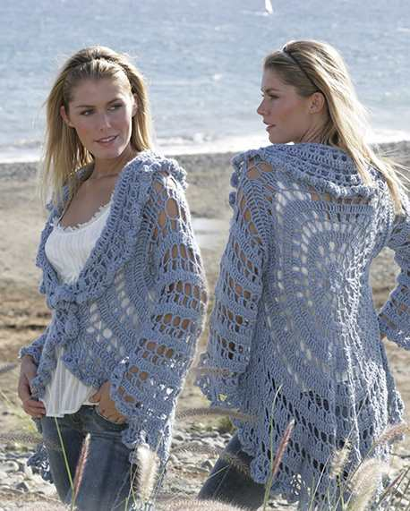 Circle crochet jacket free pattern