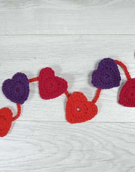 Crochet Heart Garland Free Pattern