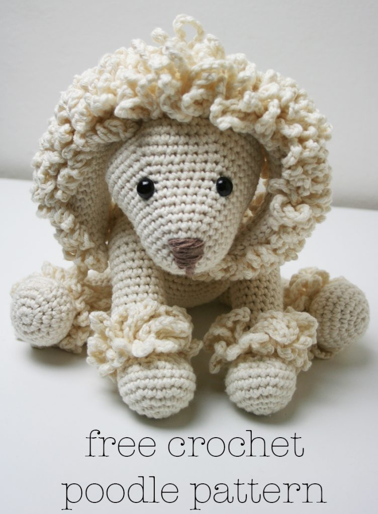 Crochet Poodle Pattern Free. Free crochet pattern download for an adorable poodle.