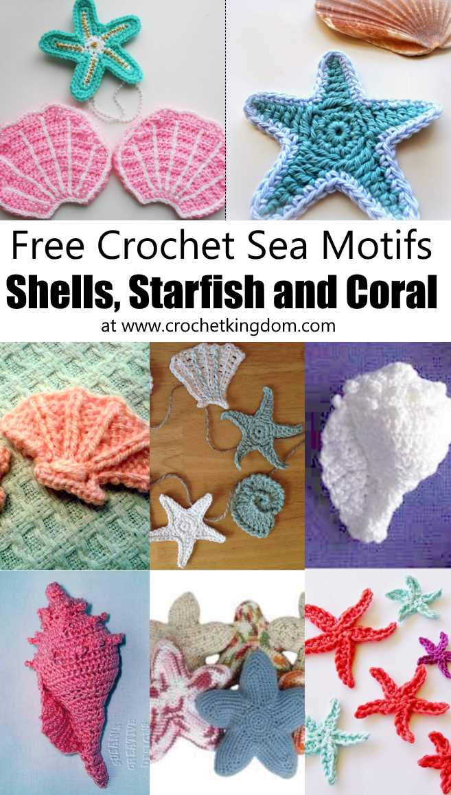 5c6454937 Crochet Sea Motifs - Shells