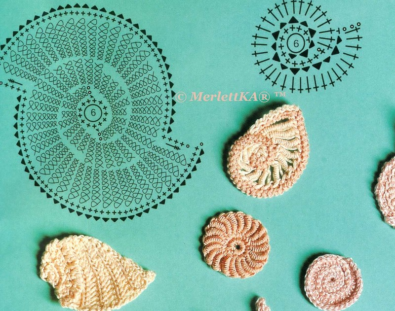 Crochet Sea Shell Motifs Diagrams