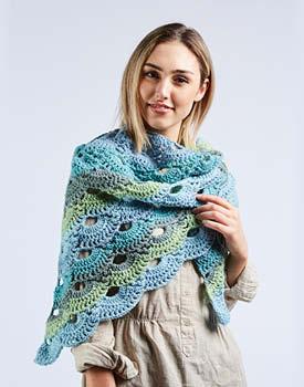 Crochet Shell Stitch Shawl Free Pattern