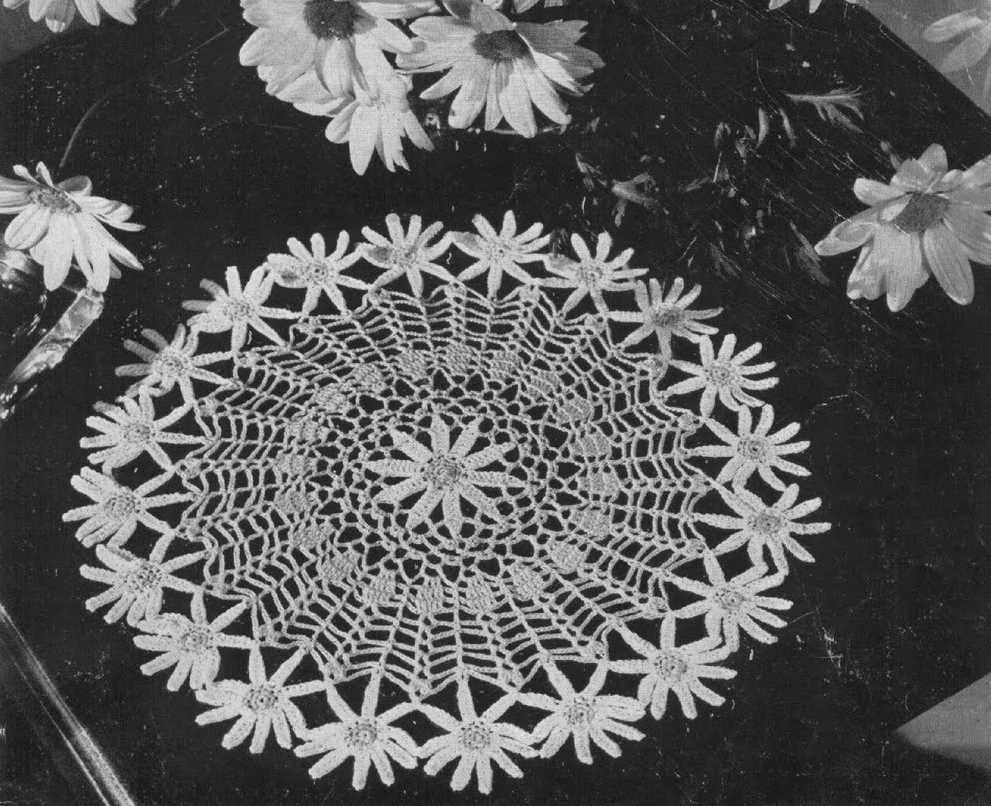 Daisy Doily Free Vintage Crochet Pattern