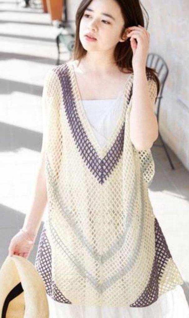 Ethnic Crochet Mesh Dress Free Pattern