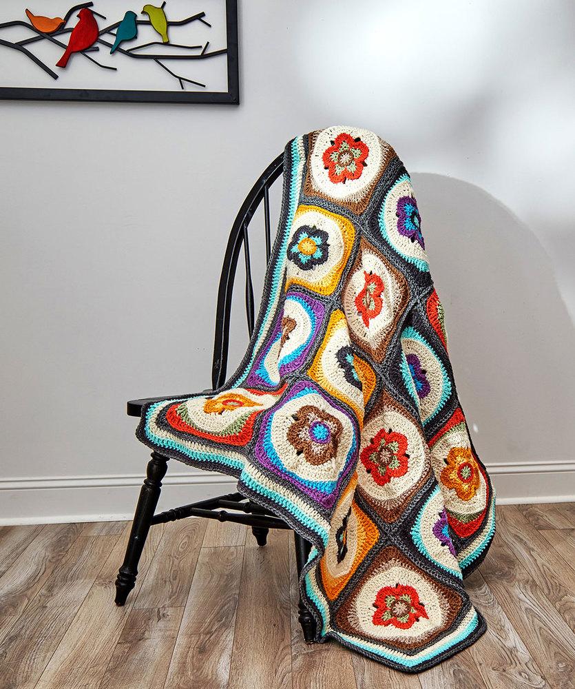 Flower Power Blanket Free Crochet Pattern