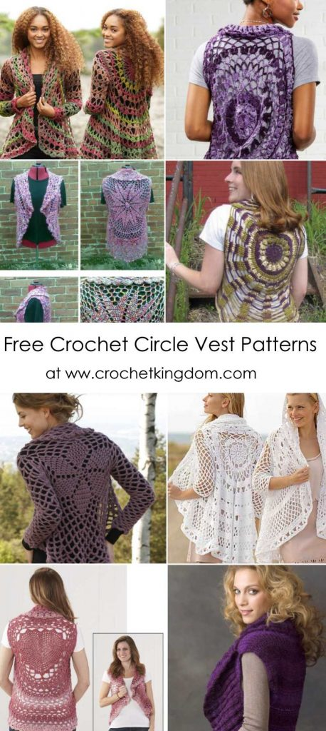 Free Crochet Circle Vest Patterns