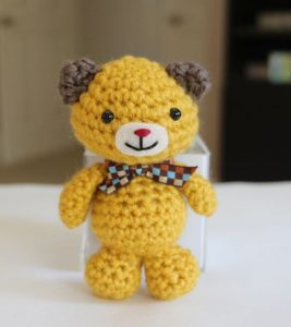 Tiny Teddy Crochet Pattern - Video Tutorial | The WHOot | 300x267