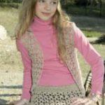 Free Crochet Vest, Skirt and Hat Pattern for Girls