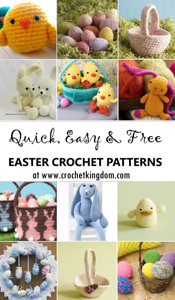 Many Easter Crochet Patterns that are Quick, Easy and Free. Just Free Easter Patterns to Crochet.