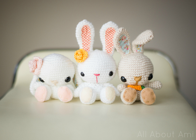 Free Easter Crochet Patterns Spring Bunnies