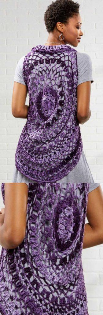 Free circular vest crochet pattern