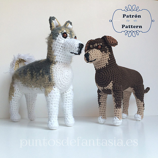 Generic dog shape free crochet dog pattern