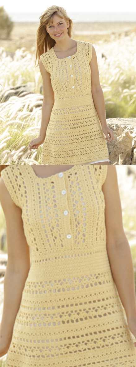 Goldfinch Free Crochet Dress Pattern