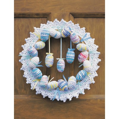 Happy Easter Wreath Free Crochet Pattern
