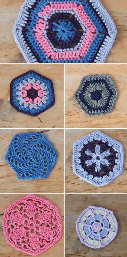 Hexagon Crochet Along Free Patterns