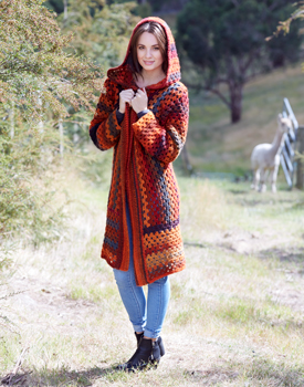 Hooded Crochet Jacket Free Pattern