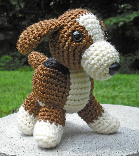 Lily Baby Beagle Amigurumi Stuffed Puppy Dog