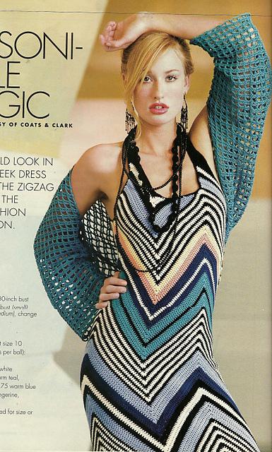 Missoni-Style Magic Dress Free Crochet Pattern