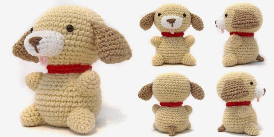 Puppy Amigurumi Free Crochet Pattern. Crochet Dog Pattern. Dog Amigurumi.