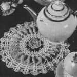 Rose Hot Plate Mat Cover Free Crochet Doily Pattern Vintage. Vintage doily crochet pattern.