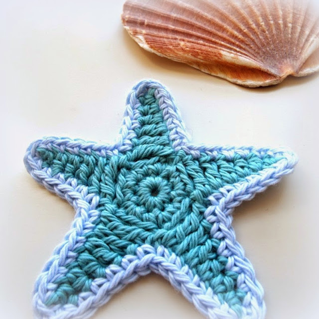Free starfish crochet applique patttern