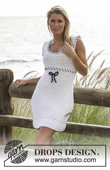 Sailor Maid Free Crochet Dress Pattern