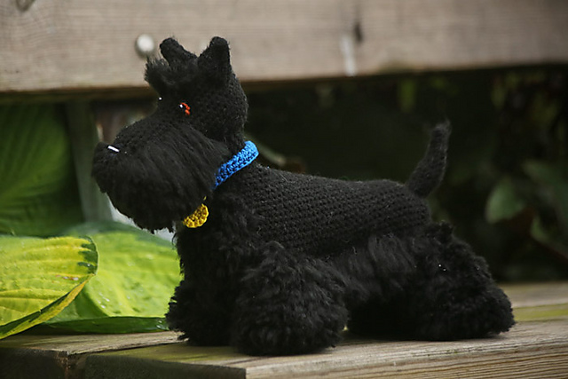 Scottish Terrier Free Crochet Toy Amigurumi Pattern