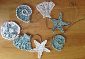 Sea Shell Garland Free Crochet Pattern Motif Applique