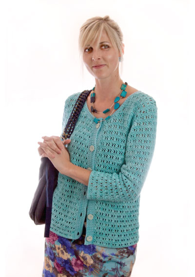 Serenity Cardigan Free Crochet Pattern for Ladies. Women's cardigan free crochet pattern download. Stylish cardi diy.