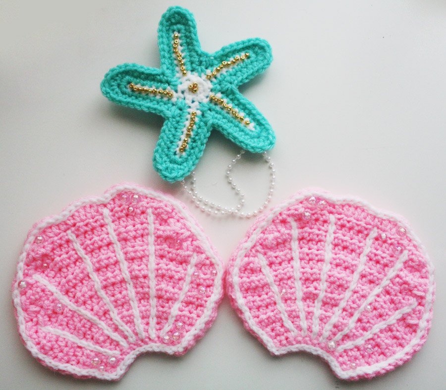 Starfish and Clam Shell Free Crochet Pattern