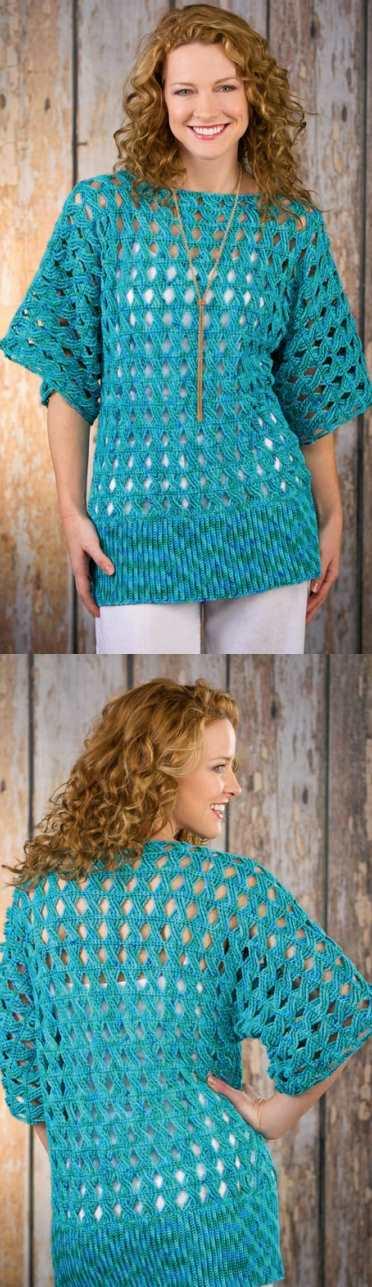 Summer Breeze Lightweight Tunic Free Crochet Pattern