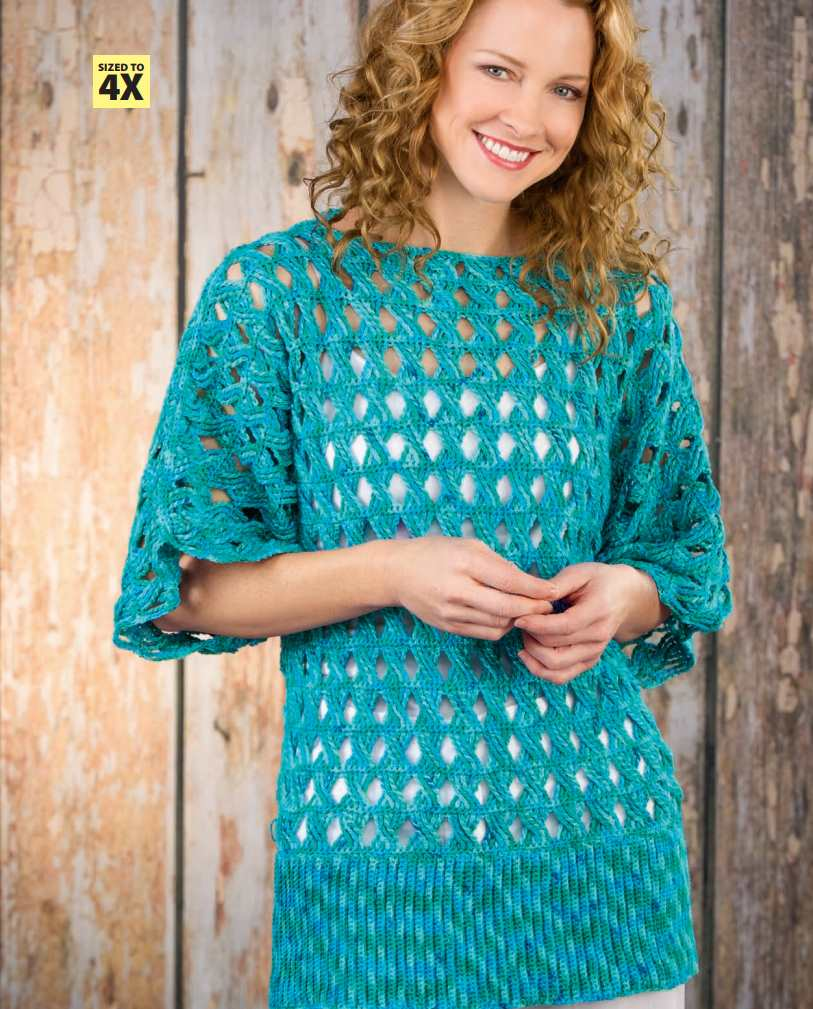 Summer Breeze Lightweight Tunic Free Crochet Pattern