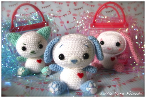 The Reversible Expressions Animal Series. Adorable and cute amigurumi dog crochet pattern. Little toy dog to crochet.