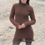 Turtleneck Crochet Dress Free Pattern