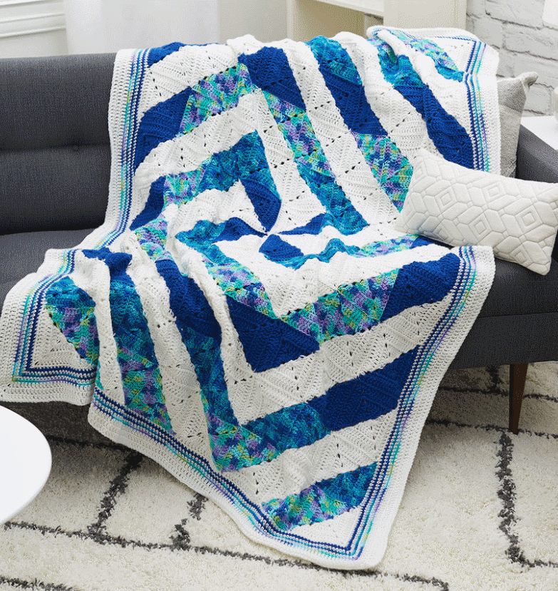 Twirling Crochet Throw Free Pattern