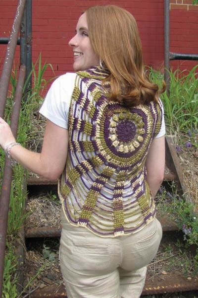 Unchained Circles Vest Easy Crochet Pattern
