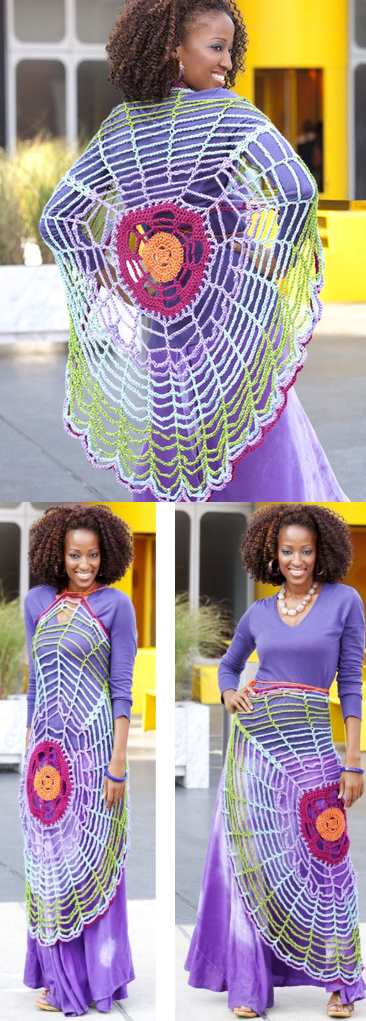 crochet circle vest or shrug pattern
