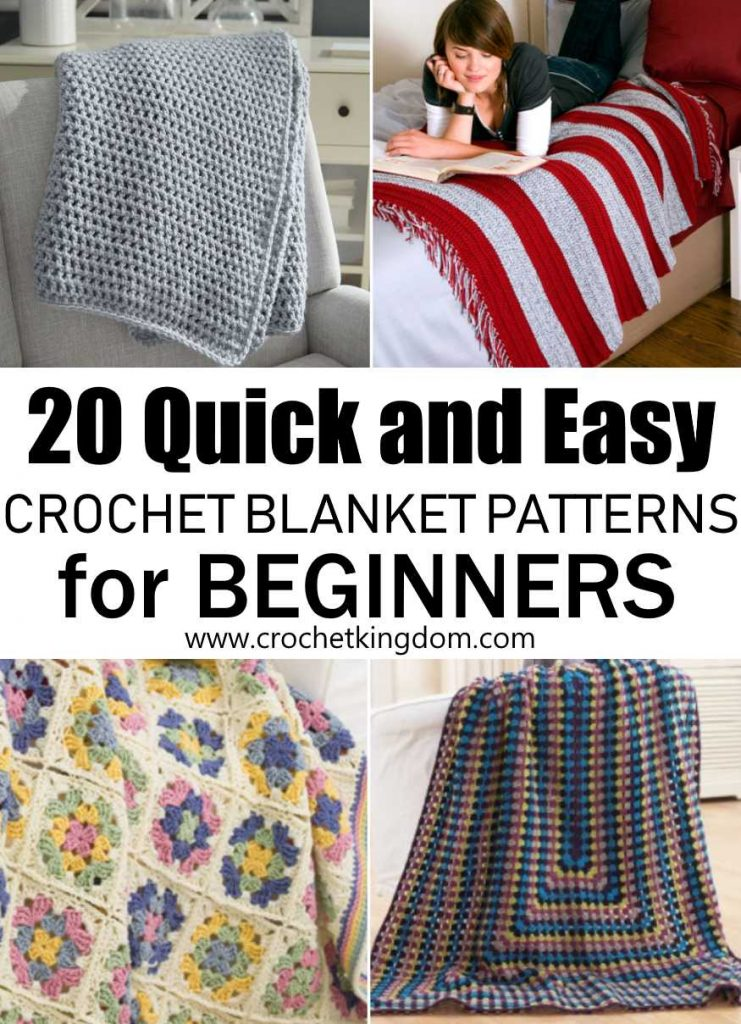 20 Quick And Easy Crochet Blanket Patterns For Beginners to Download NOW