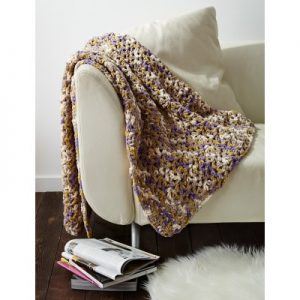 Bernat Easy Peasie Blanket Free Beginner Crochet Blanket
