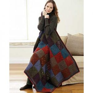 Bernat Granny Afghan Quick And Easy Crochet Blanket Patterns For Beginners