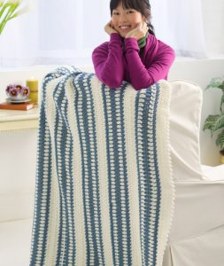 Blue Ice Throw Quick And Easy Crochet Blanket Patterns For Beginners
