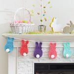 Bunny Garland Free Easter Crochet Pattern