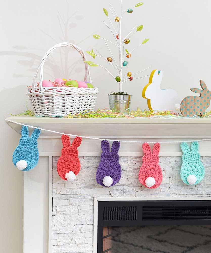 Bunny Garland Free Easter Crochet Pattern