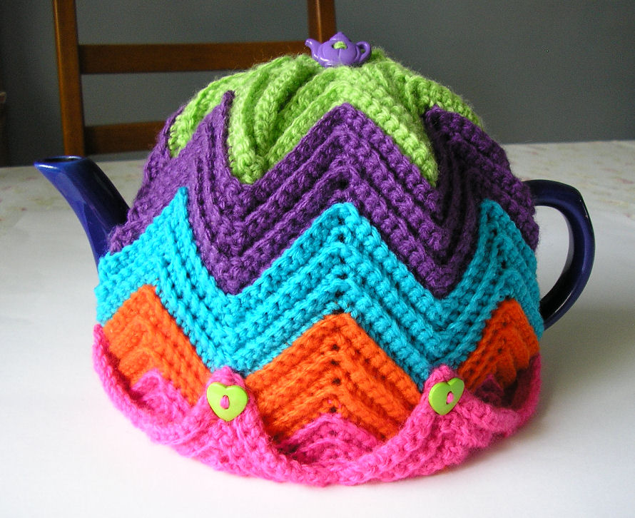 Easy Ripple Tea Cosy Free Crochet Pattern