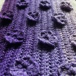 Enchanted Violets Scarf Wrap Free Crochet Pattern